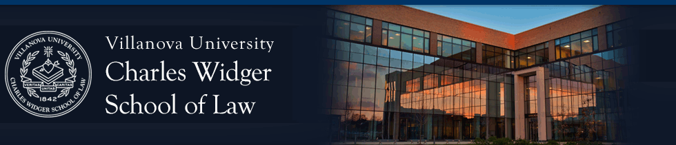 Villanova University Charles Widger School of Law Digital Repository