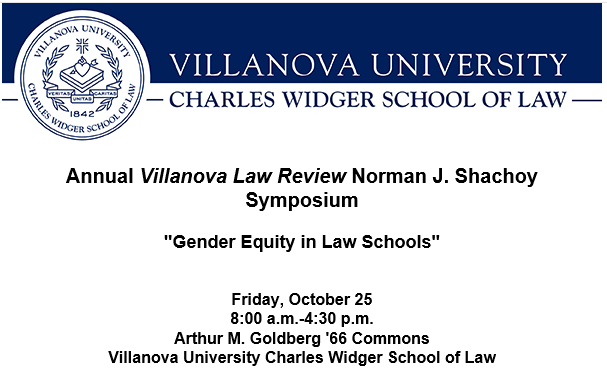 2019 Symposium - Gender Equity in Law Schools