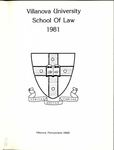 Villanova University School of Law Yearbook - 1981