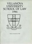 Villanova University School of Law Yearbook - 1984