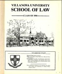 Villanova University School of Law Yearbook - 1986